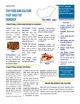 The Food And Culture Fact Sheet Of Hungary
