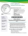 Food and Culture Fact Sheet: Somalia by UNE Applied Nutrition Program
