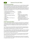 Jamaican Food and Culture Fact Sheet