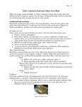 Native American Food And Culture Fact Sheet by UNE Applied Nutrition Program