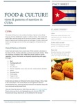 Food And Culture; Views And Patterns Of Nutrition In Cuba