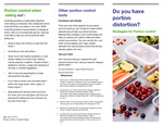 Do You Have Portion Distortion; Strategies For Portion Control