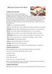 Mexican Cuisine Fact Sheet