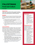 Palestinian Food And Culture Fact Sheet