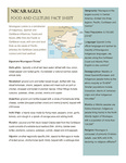 Nicaragua Food And Culture Fact Sheet by Kerry Donnelly