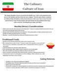 The Culinary Culture Of Iran Fact Sheet