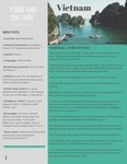 Food And Culture Fact Sheet Vietnam