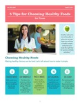 Five Tips for Choosing Healthy Foods for Teens (a Handout) by Mallory Lavoie