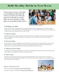 Building Healthy Habits in Your Teens (a Handout) by University of New England Applied Nutrition Program