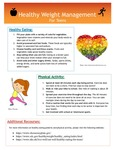Healthy Weight Management for Teens