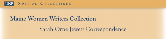 Correspondence with Mary Rice Jewett