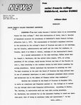 News Release, Saint Francis College Presidency Announced, 1975 April
