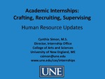 Academic Internships: Crafting, Recruiting, Supervising by Cynthia Simon