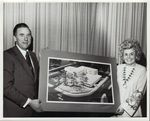 Mr. Jack Fraizer and Dr. Joan Abar Holding an Architect's Rendering of Cranston General Hospital