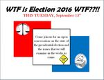 Week 1: WTF Is Election 2016 WTF??!! by Mary Johnson
