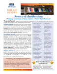 Library Reader Issue 02: Source Of Clarification by Elizabeth Dyer