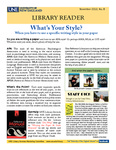 Library Reader Issue 08: What's Your Style? by Elizabeth Dyer