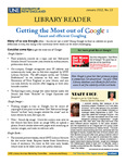 Library Reader Issue 13: Getting The Most Out Of Google by Elizabeth Dyer