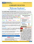Library Reader Issue 16: Welcome Students! by Elizabeth Dyer