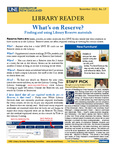 Library Reader Issue 17: What's On Reserve? by Elizabeth Dyer