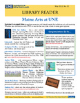 Library Reader Issue 20: Maine Arts At UNE by Elizabeth Dyer