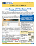 Library Reader Issue 21: Introducing DUNE: DigitalUNE by Elizabeth Dyer