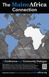 Maine Africa Connection Conference Flyer by Lindsay Katona, William Douglas, Sean Lena, and Daniel Crothers