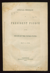 Special Message of President Pierce to the Senate of the United States: May 3, 1854