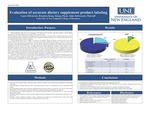 Evaluation Of Accurate Dietary Supplement Product Labeling by Laura Hitchcock, Brandon Kong, Hoang Pham, and John Redwanski