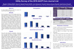 Utility Survey Of The 2016 AACP Core Journal List