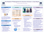 The Pediatric PT Management Of A Survivor Of Cancer: A Case Report by Kaylene Samuels