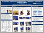 The Use Of Manual Lumbar Traction And Therapeutic Exercise In The Treatment Of A Patient With Low Back Pain: A Case Report by Kyle Rasmussen