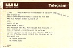 Telegram to Perdita Huston from President Ford, February 22, 1975. by Social Secretary