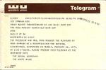 Telegram to Perdita Huston from President Ford, February 22, 1975.