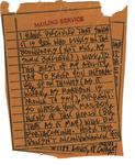 Note from Ann Beattie to Burt Britton. by Ann Beattie