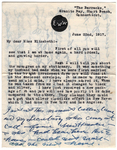 Letter from Ella Wheeler Wilcox to Elizabeth Coatsworth, June 22, 1917.