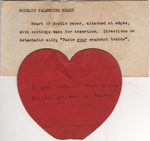 Novelty Valentine heart by Florence Burrill Jacobs