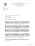 Letter from Donna Loring to Beverly C. Daggett and Patrick Colwell, November 20, 2003.