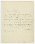 Letter from Harriet Beecher Stowe to Clayton H. Crosley, January 16, 1886.