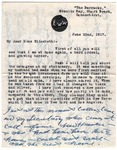 Letter from Ella Wheeler Wilcox to Elizabeth Coatsworth, June 22, 1917.