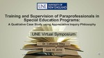 Training And Supervision Of Paraprofessionals In Special Education Programs: A Qualitative Case Study by Catherine D. Stieg
