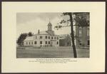 Alumni Hall, Westbrook Seminary, 1920s, with Moulton Chapel