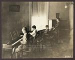 Mrs. Blanche Dingley-Mathews with Visuola Class, Westbrook Seminary, 1920s