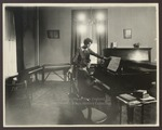 Miss Doris Roberts Instructs in the Piano Department, Westbrook Seminary, 1920s