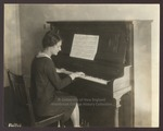 Wilma Wentworth in a Practice Room, Westbrook Seminary, Portland, Maine, 1920s