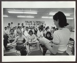 Classroom, Blewett Science Center, Westbrook College, mid 1970s