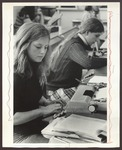 Typing Classroom, Westbrook College, 1970s by Ellis Herwig