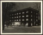 Hersey Hall in the Snow and Lit Up at Night, Westbrook Junior College, Circa 1950