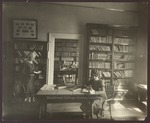 Three Students and Deborah Morton in the Hersey Hall Library, Westbrook Junior College, 1930