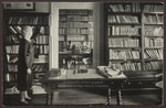 Deborah Morton and Two Students in the Library, Hersey Hall, Westbrook Junior College, 1930